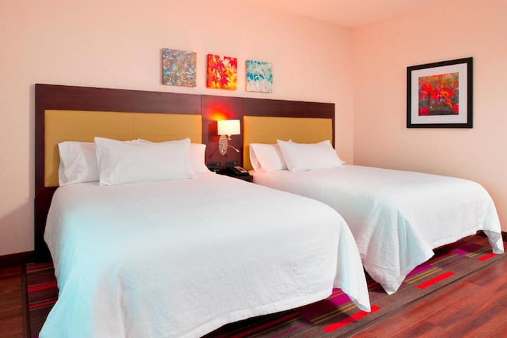 Popular Double Two Double Beds At Good Location