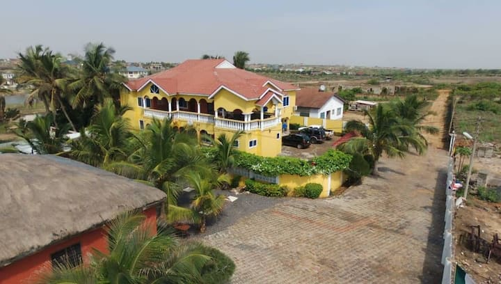 Exclusive Beachfront Mediterranean Villa near Tema