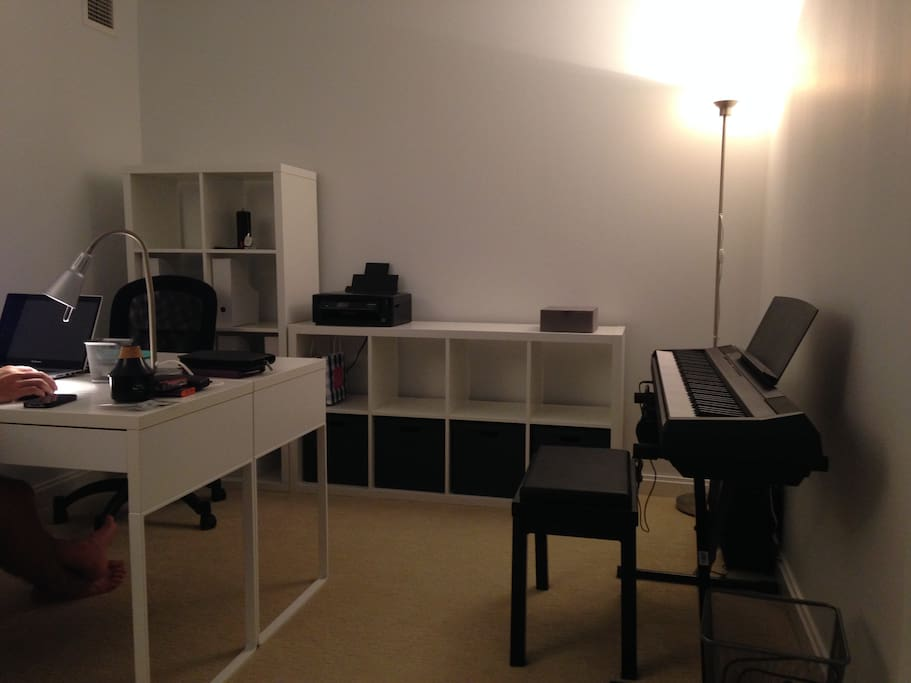Office - 2 desks, book shelves, and sofa bed
