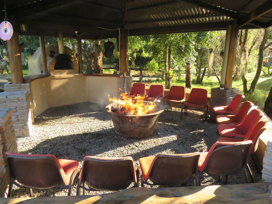 Fire Circle & wood oven