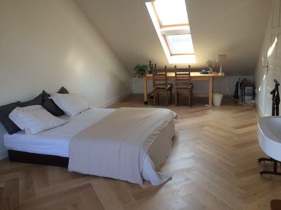 Lichte kamer bij eindhoven airport bed breakfasts for rent in best noord brabant netherlands - Bed kamer ...