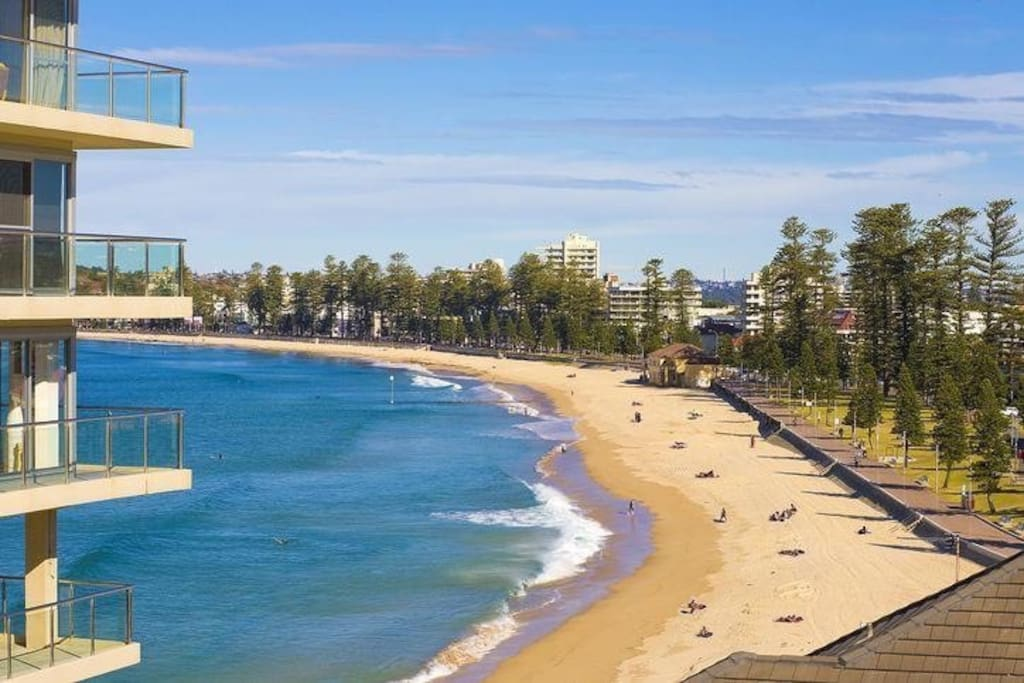 Stunning views to world famous Manly beach