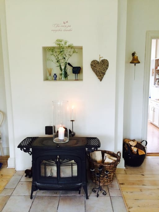 Fire place in main sitting room