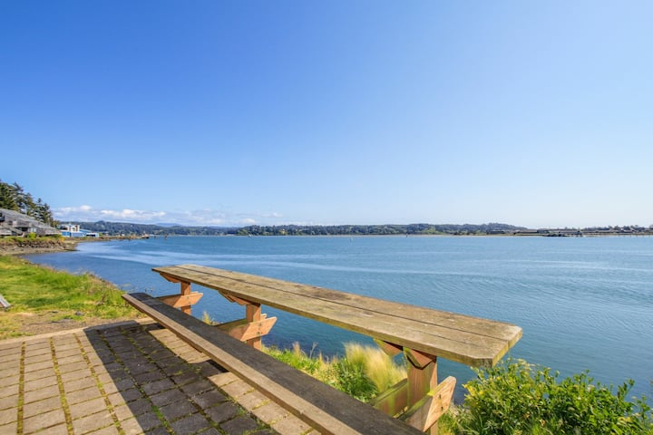 Waterfront condo w/ private deck, & exquisite views
