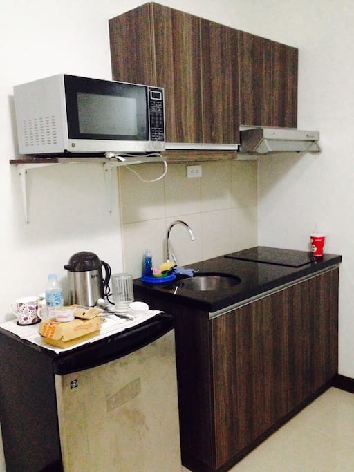 Can have your own coffee here, can do cooking as well. We have provided some kitchen utensils and cooking essentials.
