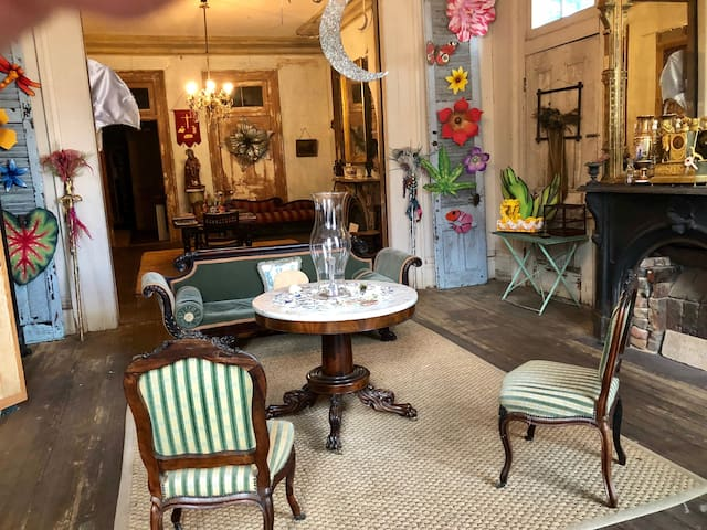 Downstairs double parlor