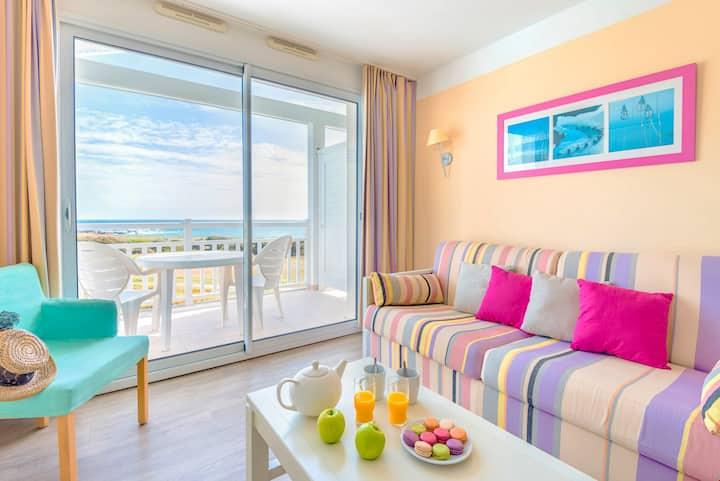 Belle vue sur la mer ! Appartement cosy + balcon privé