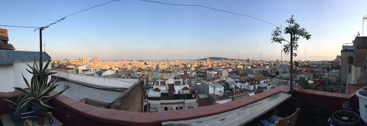The best view over Barcelona close to Parc Güell