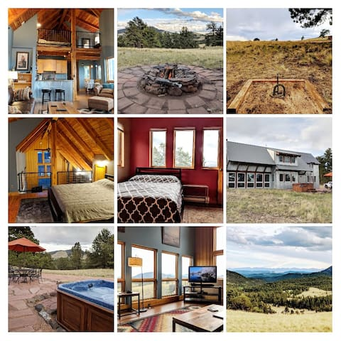 Rustic Modern Getaway + Hot Tub + VIEWS!!!