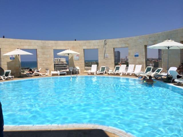huge 2 rooms in Yafo + park & pool - Tel Aviv-Yafo - Wohnung
