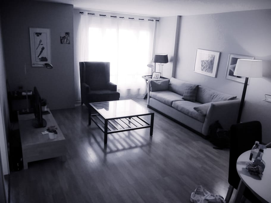 Living room - TV with Cable,Chair and Couch