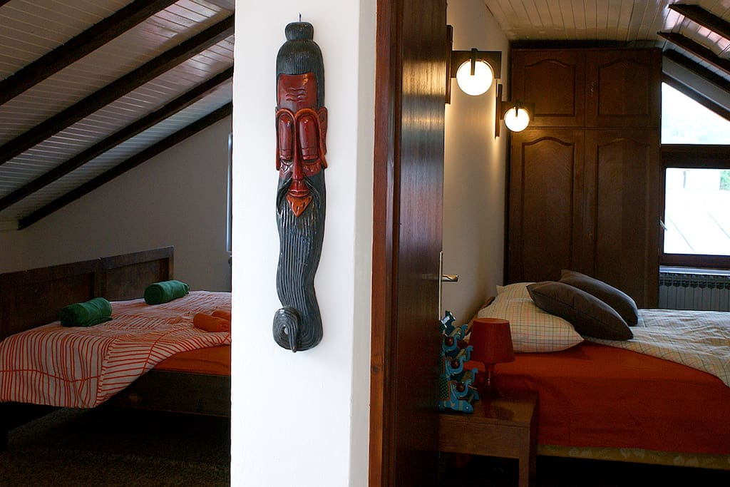 Next to your room there is one antoher, if you want to be with your friends, family or another couple , so you have all floor for yourself.