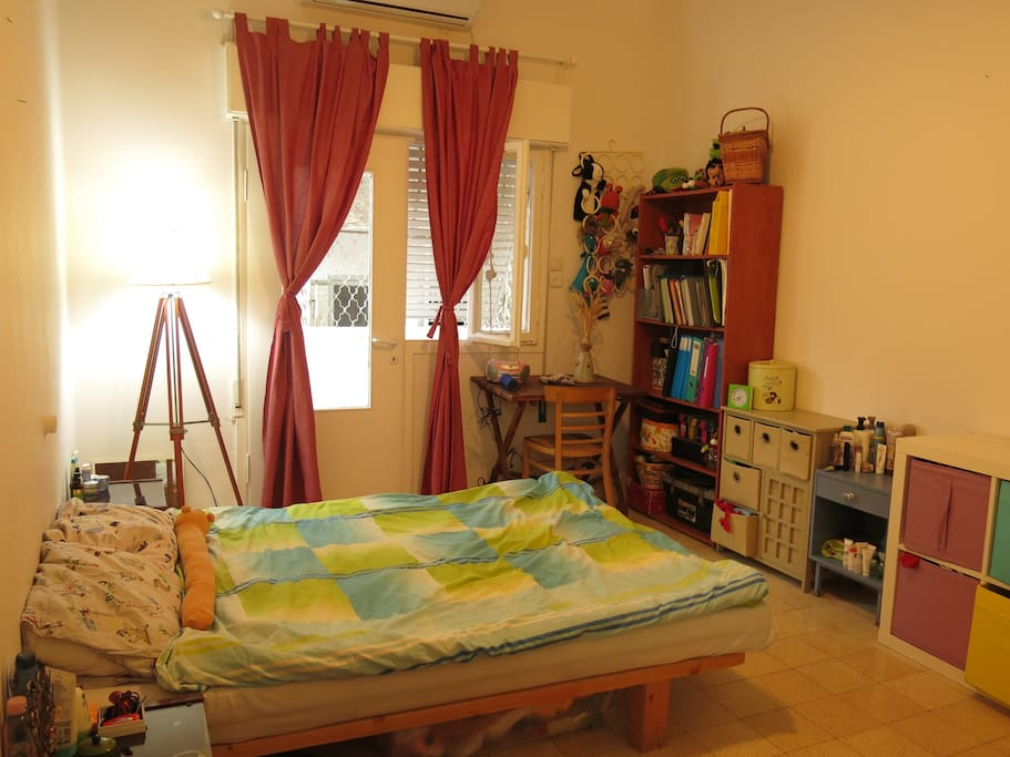 air conditioned bedroom, private balcony and lots of space