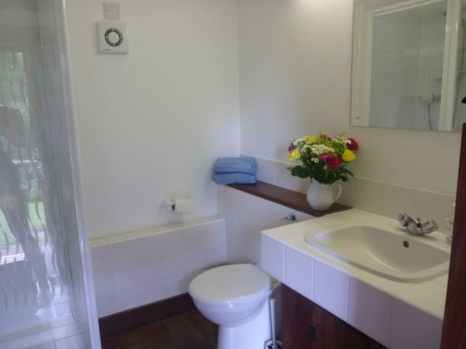 Tiled shower room