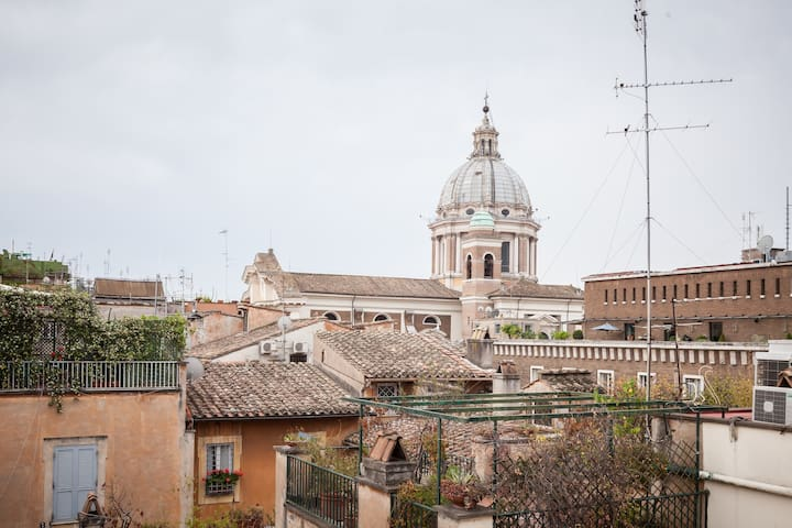 Luxury Rooftop Apartment -3 min from Spanish Steps