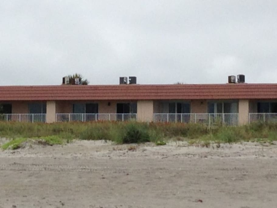 View from the beach to the Seton by the Sea oceanfront condos, only 8 units in building