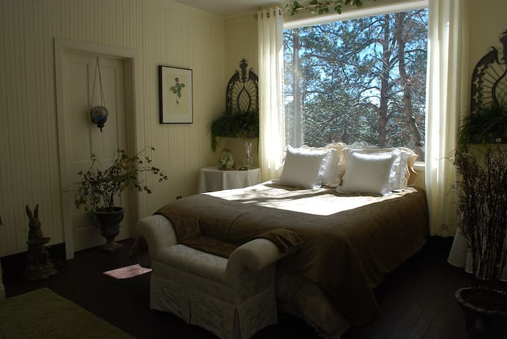 A large mountain Garden room, breakfast & Jacuzzi - Palmer Lake - Bed & Breakfast