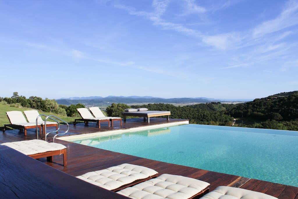 The apartment is set inside a stunning property, an organic sanctuary of 120 acres with pool, just a little walk from your door