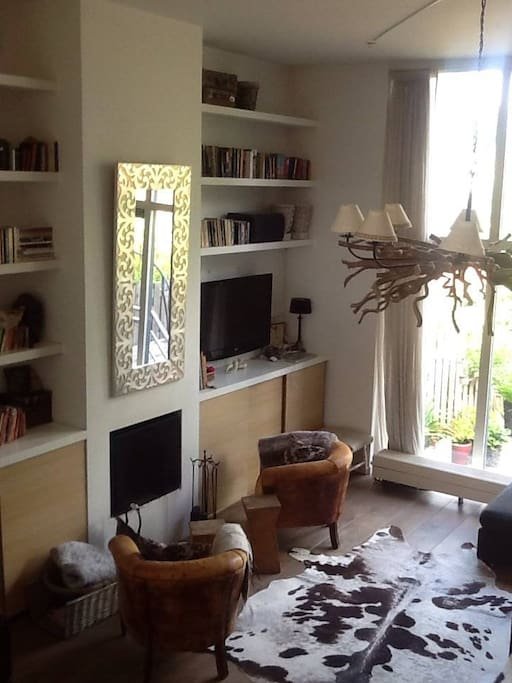 Livingroom with fire place