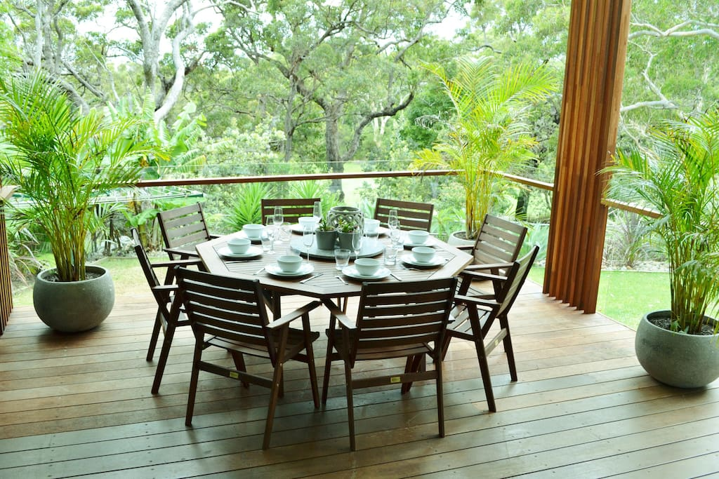 Downstairs deck area- Overlooks Vincentia Golf Course