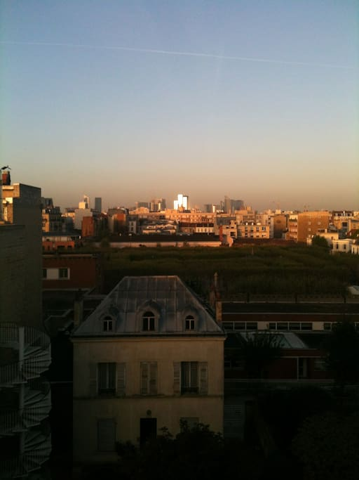 This is the view from my appartment, if you like to have dinner with the sunset, it is great