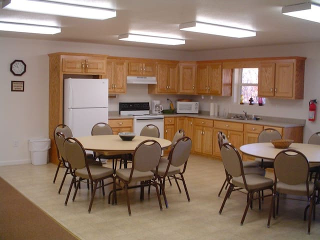 Large kitchen/dining area
