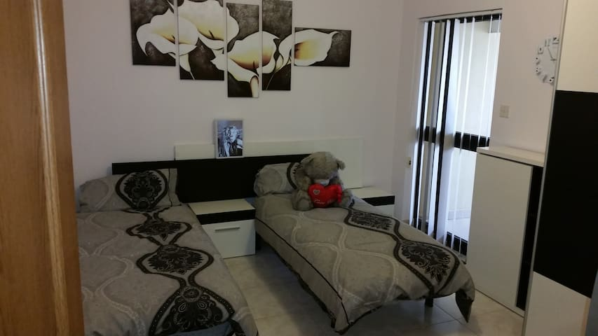 Our twin bed room - cool and perfect for a fab sleep