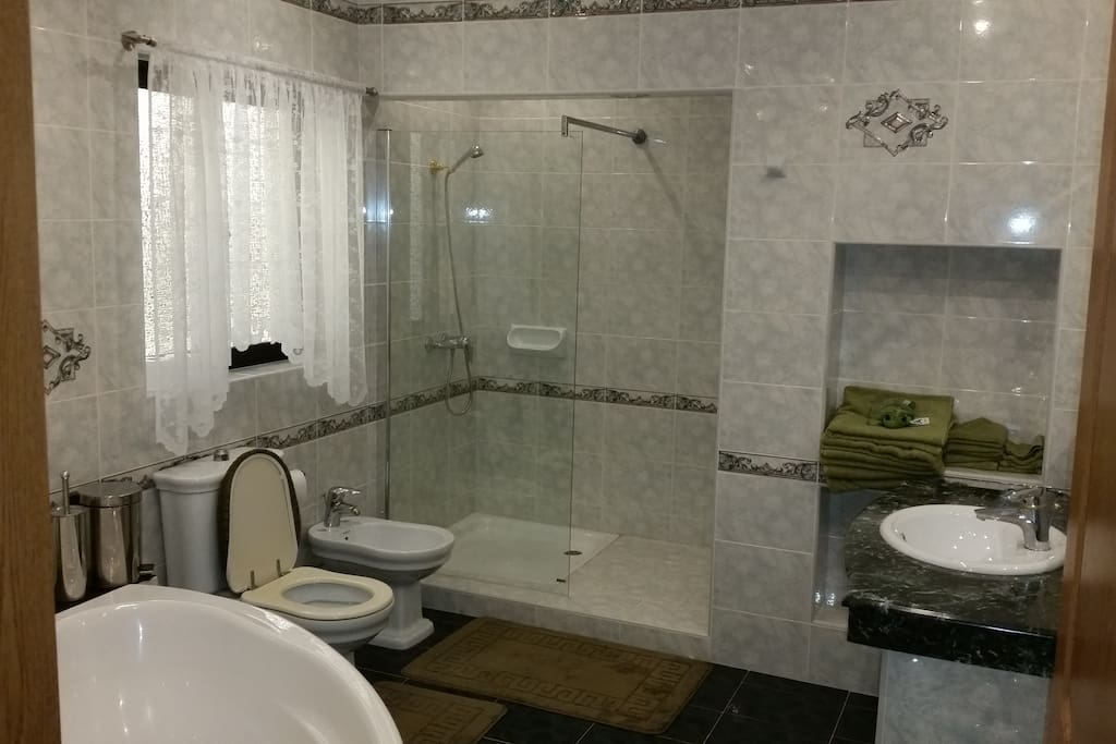 Nothing better than a refreshing shower or bath in our large family bathroom