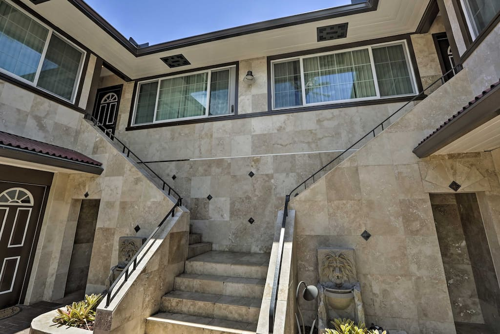 This apartment is steps from the Ala Wai Canal.