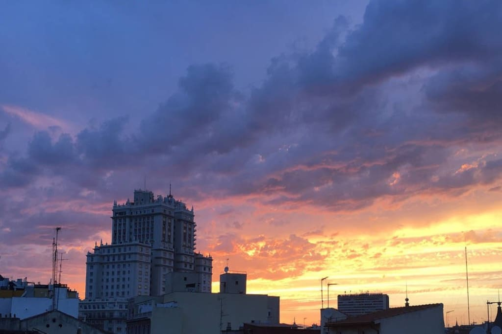 Another sunset from our terrace. Madrid has am amazing sky