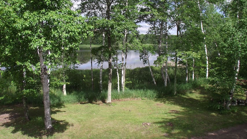 Birch Berry Cabin - privacy and scenic lakefront - Iron River - Chalet