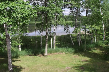 Birch Berry Cabin - privacy and scenic lakefront - Iron River