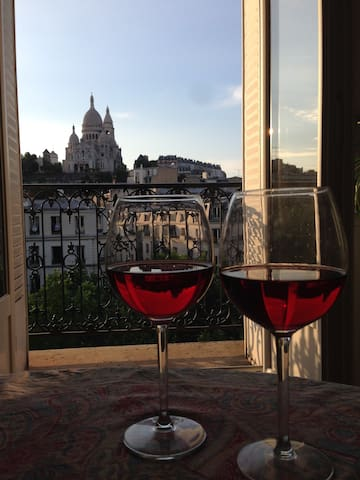 A glass of wine after a long day of sight seeing?