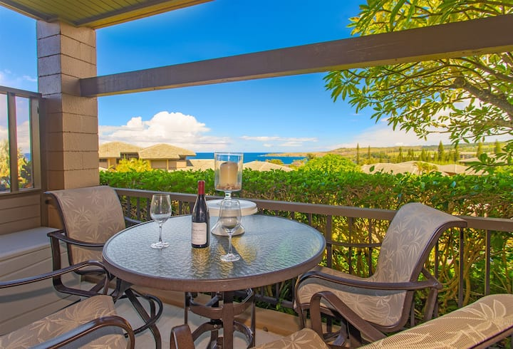 NEW platinum level, FULL remodel villa with unrivaled interiors and spectacular ocean and island views!