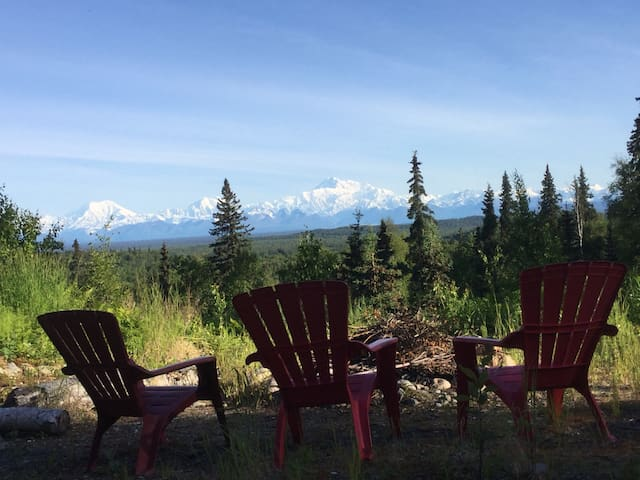 Talkeetna - DENALI PLACE-secluded view of Denali