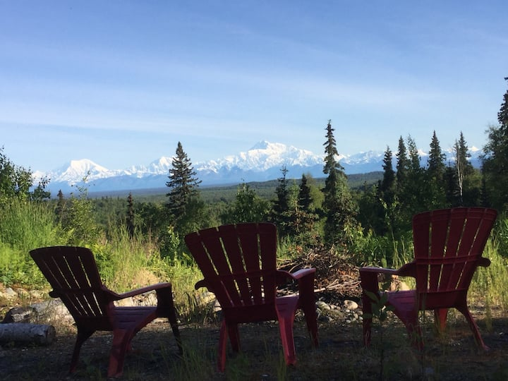 Talkeetna - Denali place -secluded view of Denali