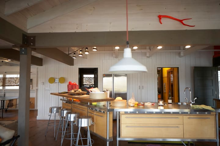 The Open  kitchen with cooking Island