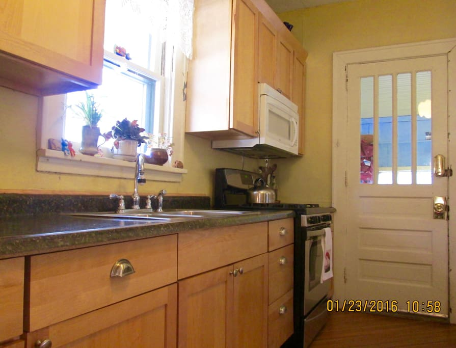 More kitchen; great light, new appliances in 2015.