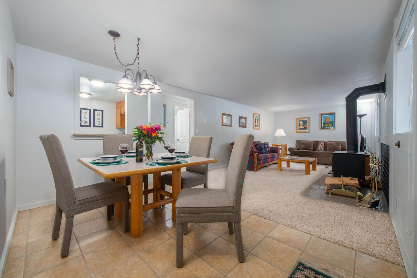 Dining for 4 w/ Living Space