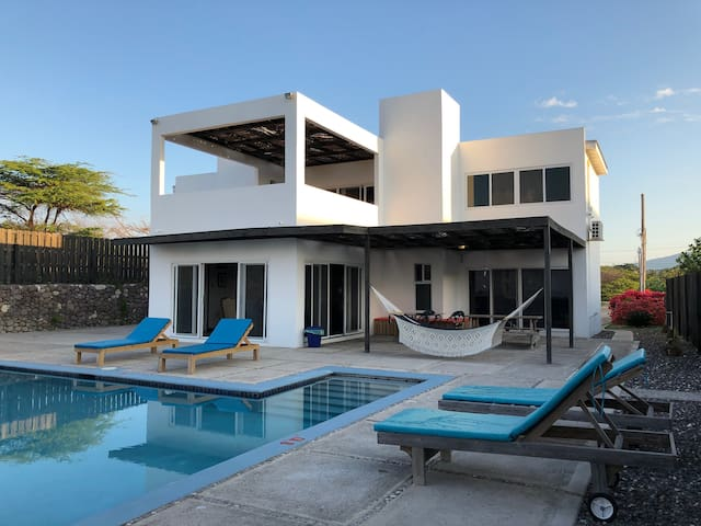 Luxury beach front villa with private pool & staff