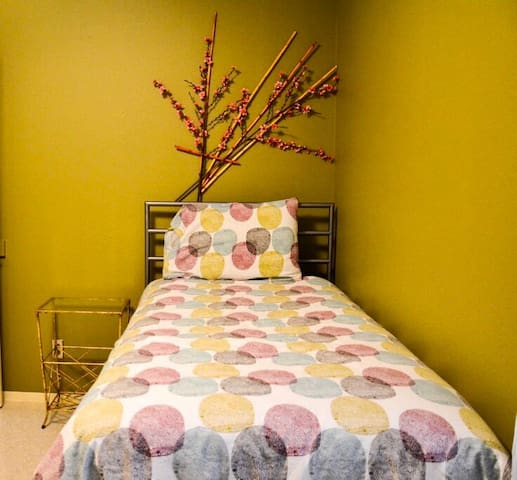 Twin beds located in Bedroom #2