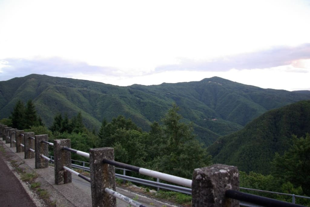 View of the main street - Appennino Tosco Emiliano - 35 km from Pistoia, about 50 km from Lucca, about 70  km from Florence