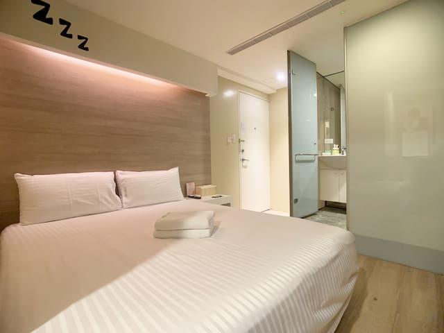 Taipei Xinyi 012︱Double Bed︱Near Taipei 101