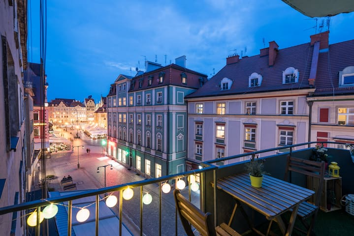 Modern Apartment with amazing balcony in Wroclaw