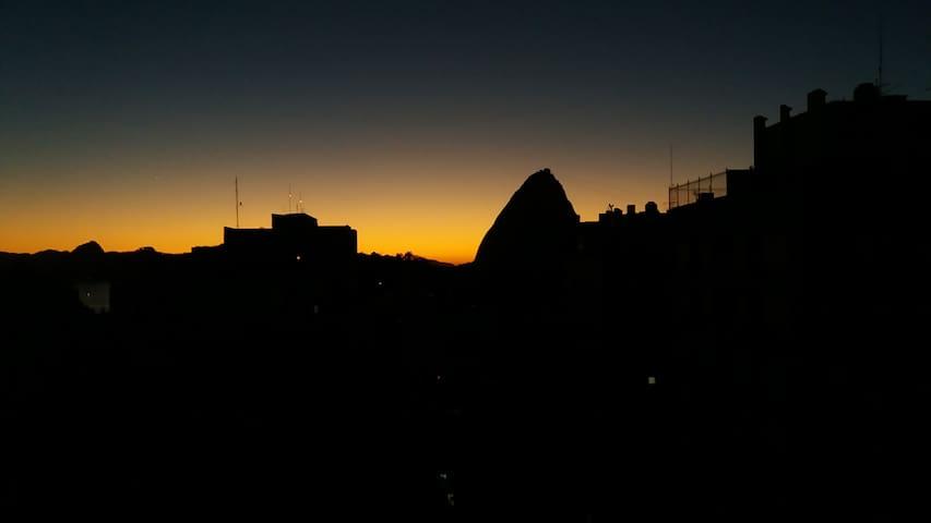 Flamengo. Apartment - view from Pão de Açucar