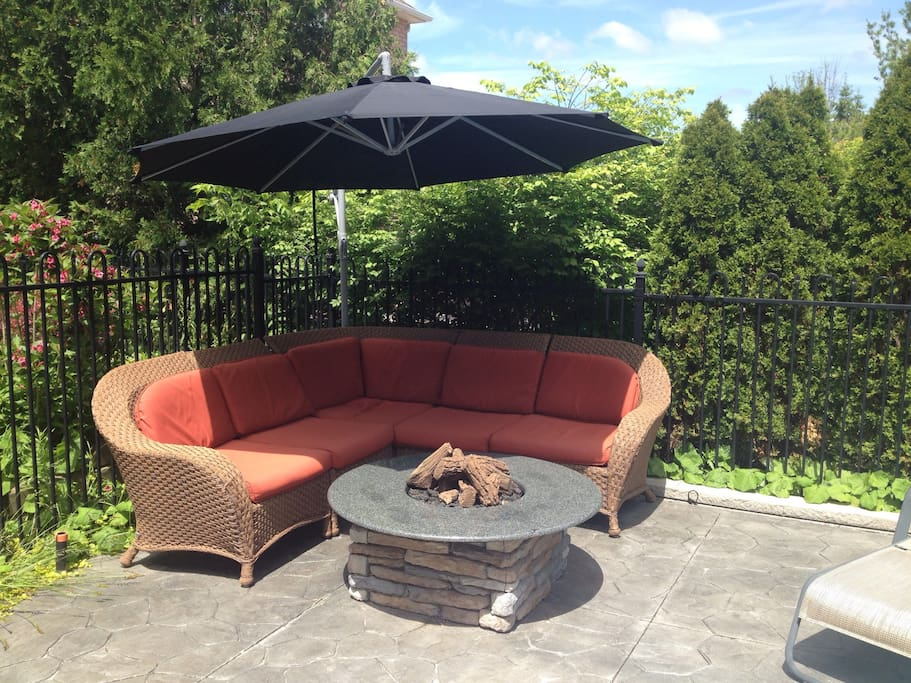 Poolside Natural Gas Fire Pit