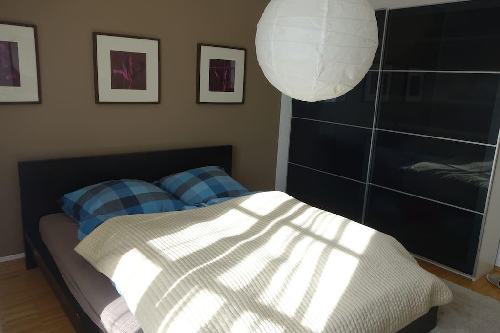 Bedroom with Hirschgarten view and big closet.