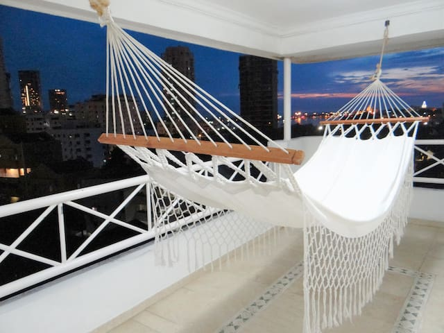 Room in a Penthouse duplex, bay view. 2 - Carthagène - Appartement