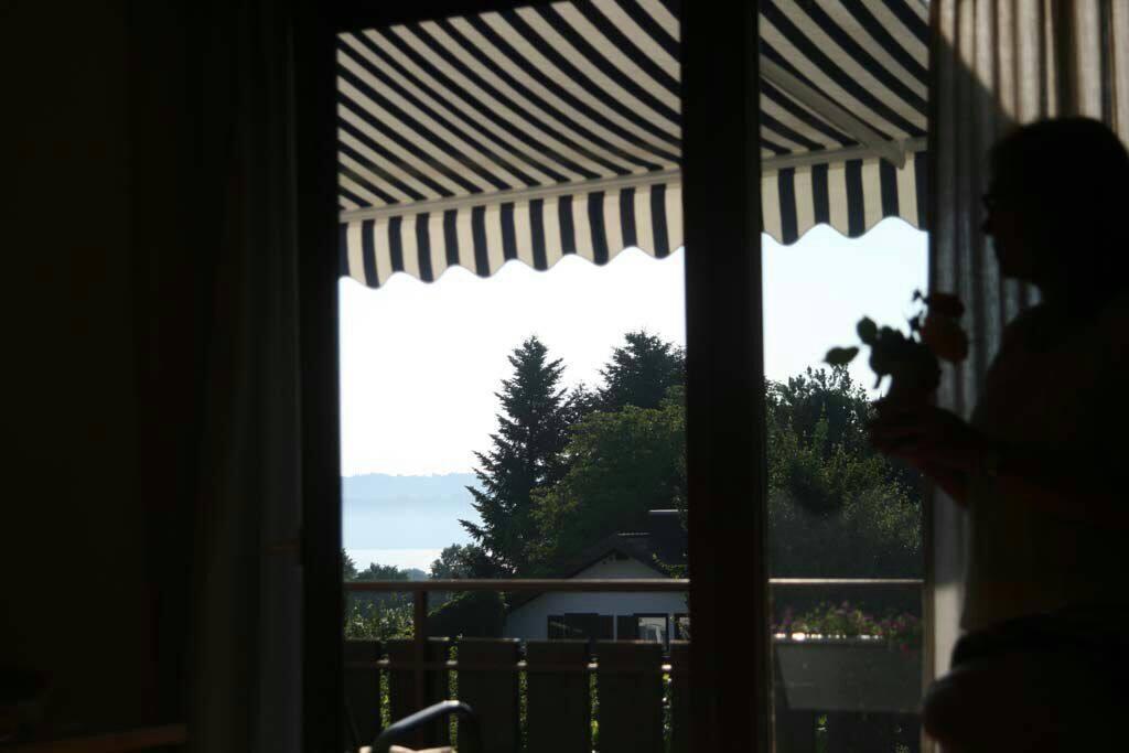 Blick auf See und Kloster Andechs