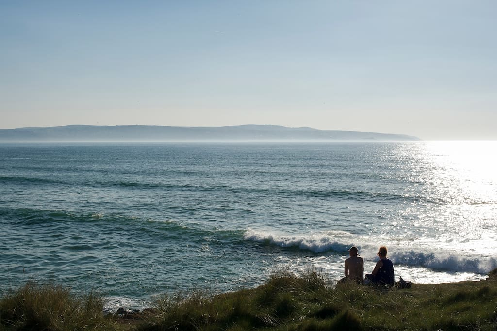 Looking towards to St Ives from Godrevy Point